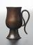 Syphon or 'tantalus' cup. The small copper vessel has a handle made from a piece of hollow copper pipe which acts as a