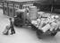 Railway workers unloading goods, 1936