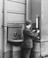 Drinking fountain at Chester station, 1921.