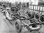 Chassis in the road vehicle workshop at Wolverton railway works, 1933