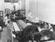 Ironing room at Wolverton railway works, 1933