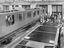 Railway carriages under construction, about 1928.