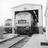 Driver entering a diesel locomotive, 1969