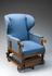 Ward's improved recumbent chair, by John Ward, made in London, 1880-1900.       Full 3/4 view, graduated grey background.