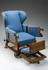 Ward's improved recumbent chair, by John Ward, made in London, 1880-1900.       Full view, footrest down, graduated grey