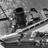 Liner and tug at Southampton, 1950