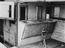 Interior of rail horse box.