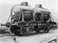 Flat wagon no. B749034 with two London and Burton beer tankers chained on. No wh