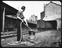 Workman in yard shunting using capstan.