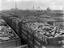 Railway wagons filled with coal for export, Goole, 24 April 1911