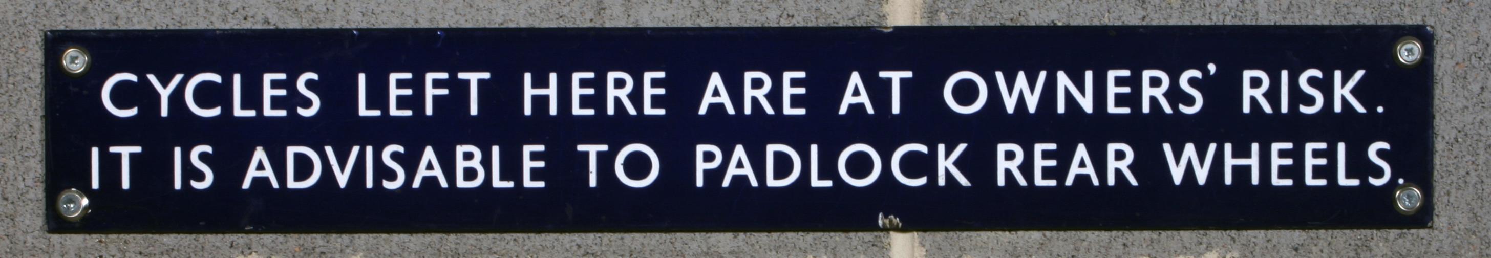 British Rail (Eastern Region) notice - 2007.